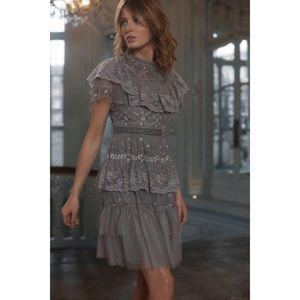 NWT Needle & Thread Cinderella Tiered Lace Dress